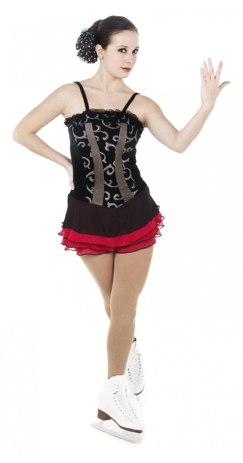 svart röd klänning
