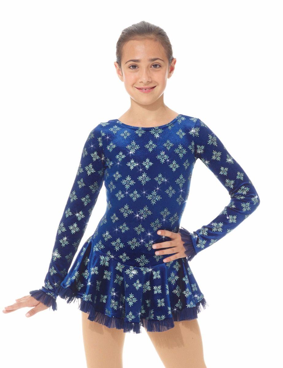 K-Skate   Sportbutiken Linnea - Blå klänning i sammet med glittermönster 972f09b4c8dbd