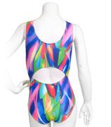 Färgstark gymnastikdräkt med snygg rygg