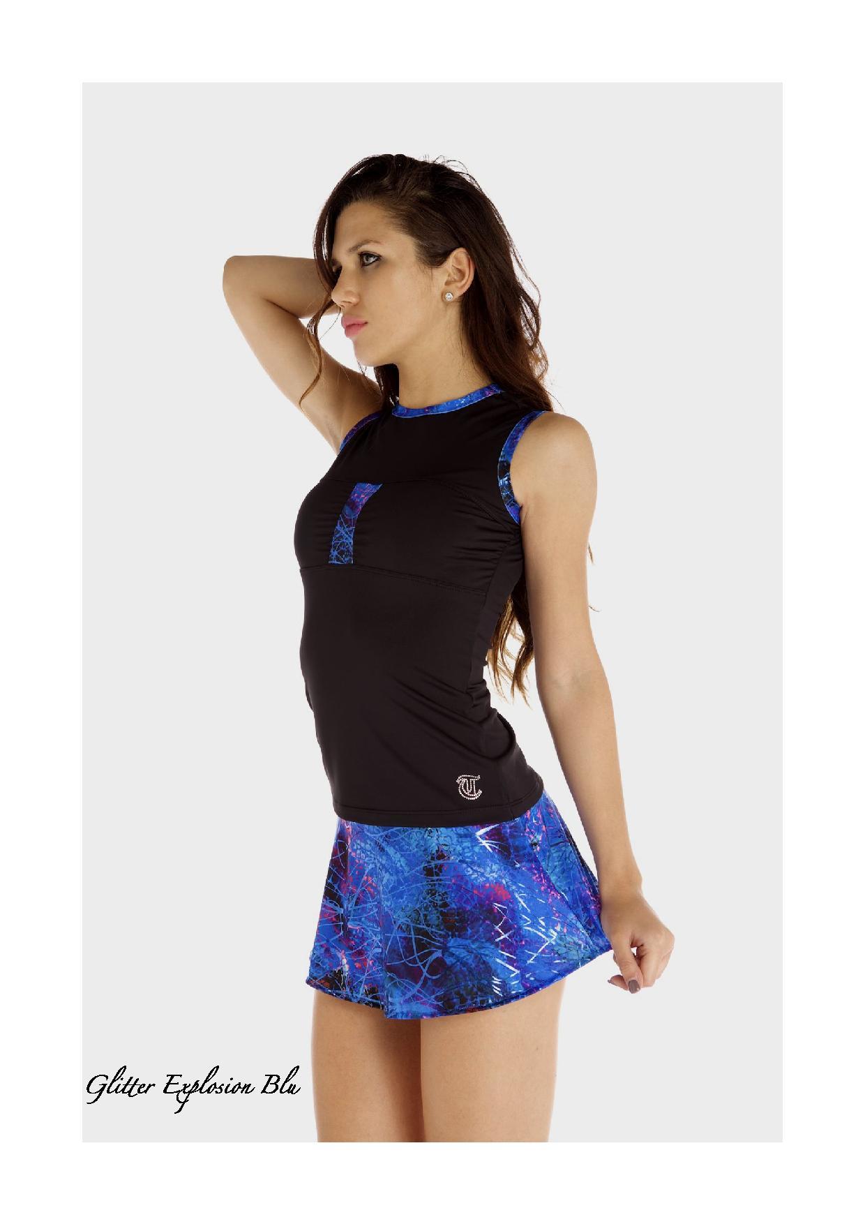 3954fe6a7cca Halvrund glittermönstrad kjol från Thuono