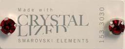 Örhängen med swarovskikristall