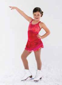 Röd klänning i glittersammet