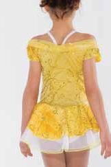 Gul glittrig prinsessklänning