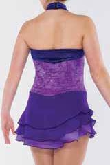 Lila halterneckklänning