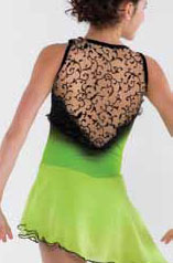 Ärmlös klänning i grönt