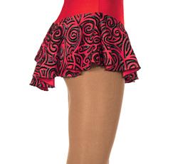 Röd mönstrad kjol