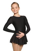 Enfärgad lycraklänning med rynkad kjol