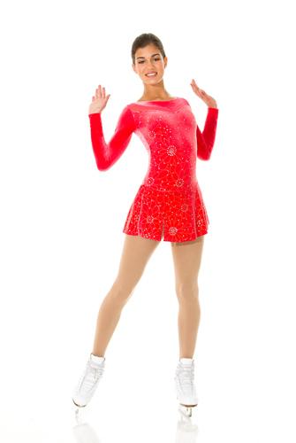 röd glitter klänning