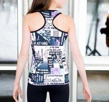 Multifärgat och mönstrat linne från Elitexpression