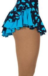 Blå kjol med hjärtmönster