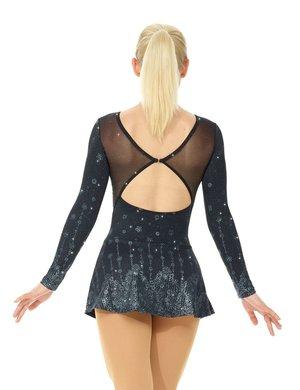 Svart långärmad klänning med glitterdekor
