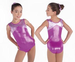 rosaglittrig gymnastikdräkt