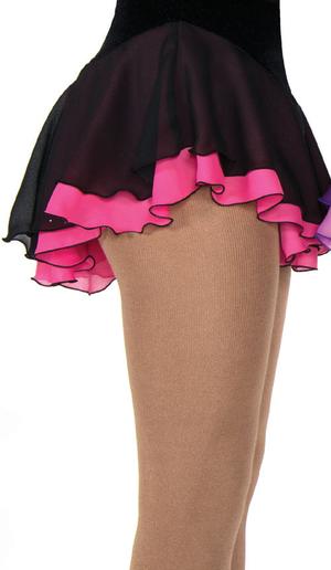 Svart kjol med underkjol i rosa