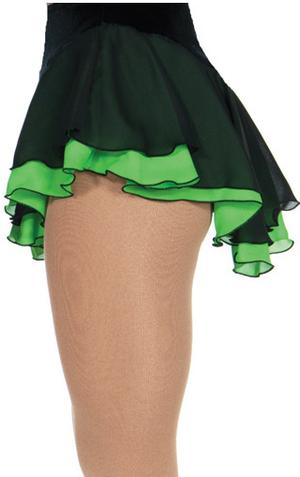 Svart kjol med underkjol i grönt