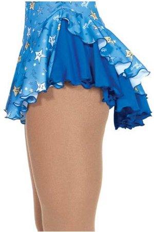 Kjol i blått med stjärnmönster
