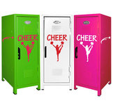 Söta skåp med cheerleadingmotov