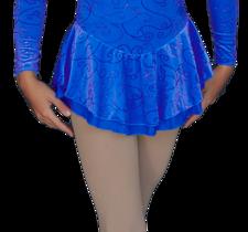 Långärmad sammetsklänning i blått