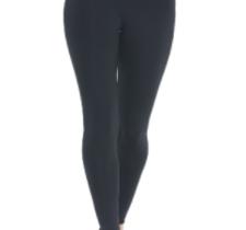 svarta leggings i funktionsmaterial med nervikbar kant