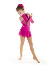 Tävlingsklänning från Sagester i starkt rosa