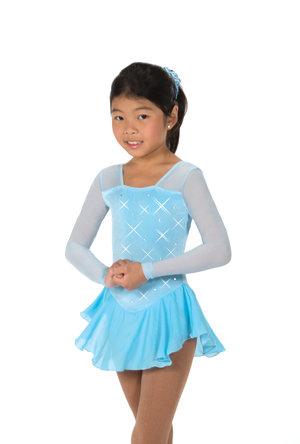 Ljusblå klänning med kristaller