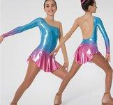 Blå/rosa långärmad  klänning