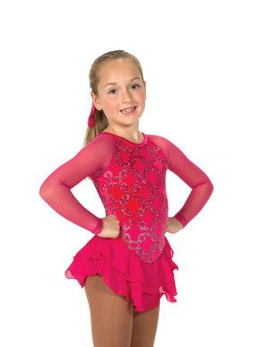 Rosa klänning med glittermönster