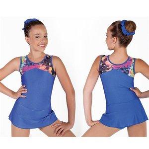Ärmlös dräkt med kjol i 3 olika färgkombinationer