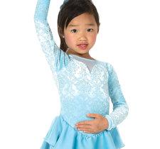 Ljusblå klänning med glitter