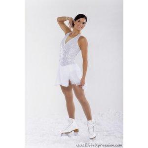 Vit halterneckklänning