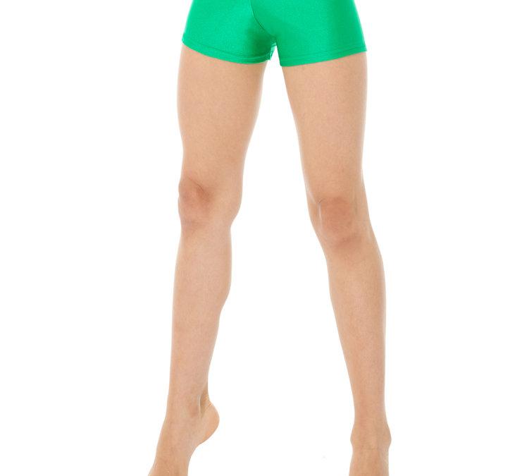 Enfärgade hipsters/hotpants i grönt