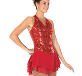Röd paljettklänning
