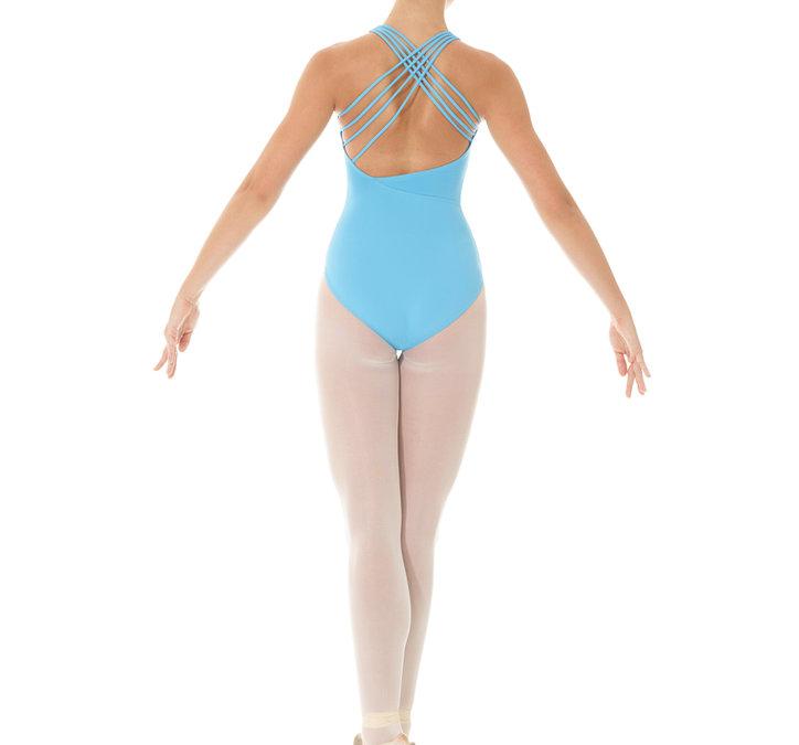 Ljusblå dansdräkt/body