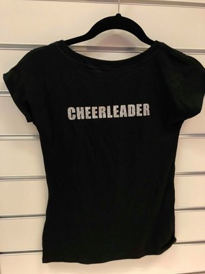 """Texten """"Cheerleader"""" i glittertryck"""