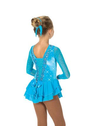 Turkos klänning med kristaller