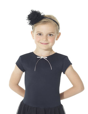 Hårband med tylltofs i svart eller rosa
