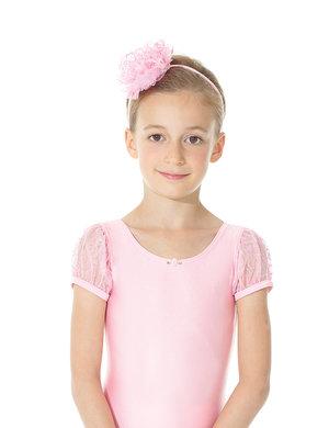 Hårband med blomma i rosa