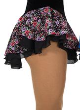 Blommig kjol med underkjol i svart