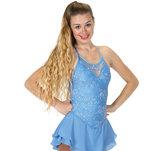 Ljusblå axelbandsklänning