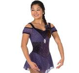 Lilaglittrig klänning