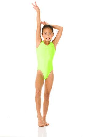 Ärmlös gymnastikdräkt i neonfärgad eller svart  lyckra