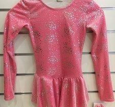 Rosa/silvrig sammetsklänning