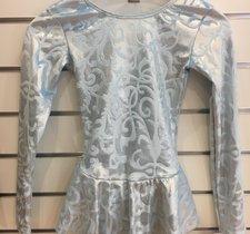 Ljusblå sammetsklänning