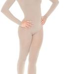 Långärmad benlös hudfärgad body