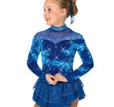 Blå sammetsklänning