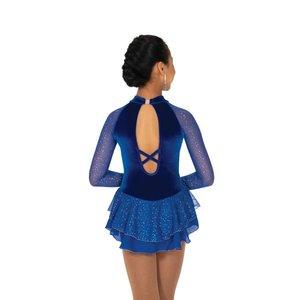 Kornblå klänning med kristaller