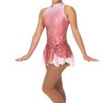 Rosa/silvrig klänning