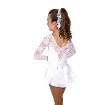 Vit spetsklänning med glitter