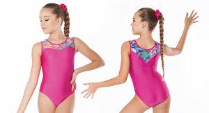 Gymnastikdräkt i lila eller rosa