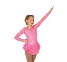 Rosa spetsklänning med glitter