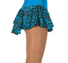 Turkos mönstrad kjol